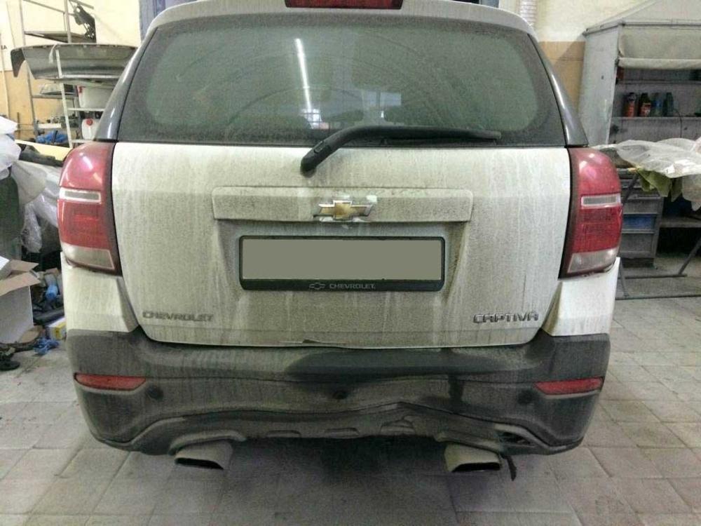 Внешний вид автомашины Шевроле до ремонта и покраски